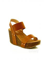DOUBLE STRAP HIGH WEDGE