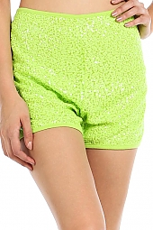 SEQUIN COVERED HIGH WAIST SHORTS