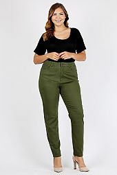 PLUS SOLID KNIT SKINNY PANTS