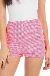 FISHNET HIGH-WAIST SHORTS