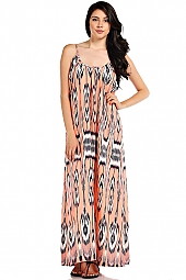 IKAT PRINT KNIT CAMI MAXI DRESS