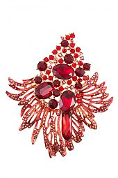 CLUSTER GEM PAVE DETAILED BROOCH