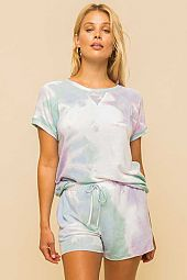 MINT AND LAVENDER TIE DYE SO SOFT TERRY SWEATSHIRT