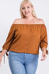 KOSHIBO OFF SHOULDER TOP