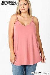 PLUS FRONT AND BACK REVERSIBLE SPAGHETTI CAMI