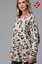ANIMAL PRINT OVER SIZED TOP