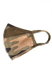 CAMOUFLAGE WASHABLE COTTON FACE MASK