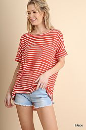 CUFFED SLEEVE BOXY KNIT TOP