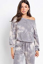 SLOUCHY SHOULDER PULLOVER