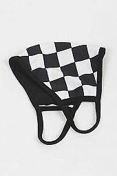 Checkered Print Mask