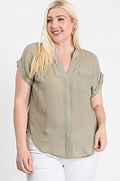 BACK OPEN DEEP V-NECK TOP