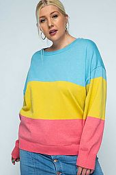 Comfy Color-block Pullover