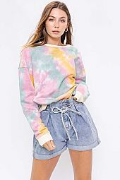 MULTI COLOR TIE DYE SWEATSHIRTS