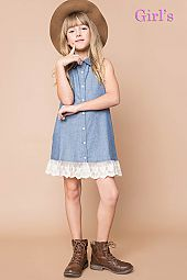 DENIM WOVEN CLASSIC SHIRT DRESS
