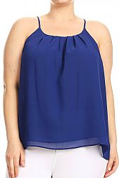 PLUS SOLID CAMI TOP